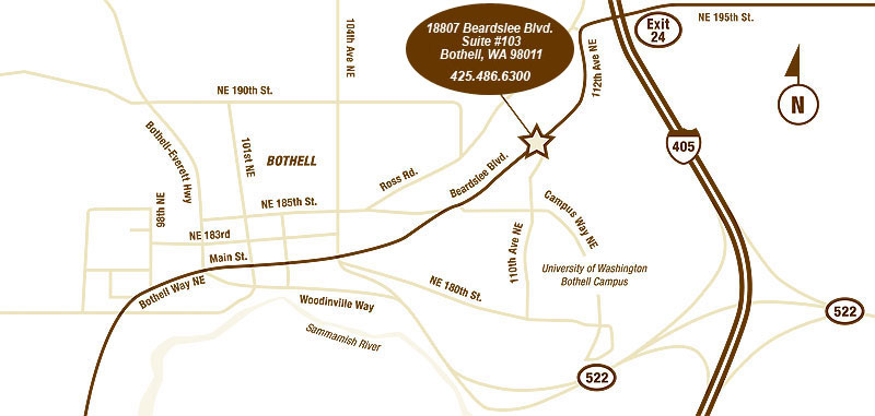 bothell kids dentist map and directions